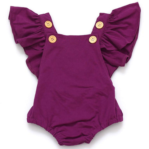 Ruffle Sleeve Sunsuit