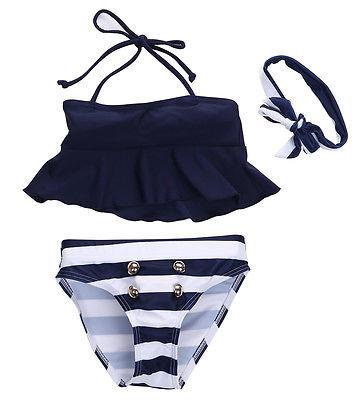 Navy Stripes Swimsuit