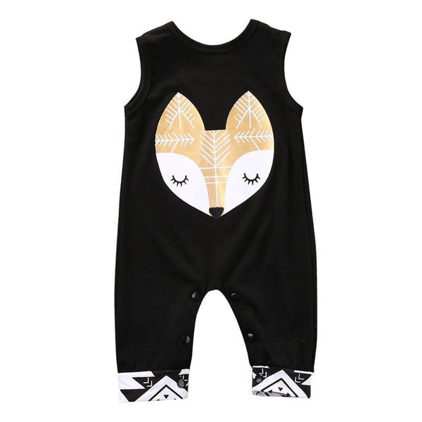 Fox Sleeveless Jumpsuit