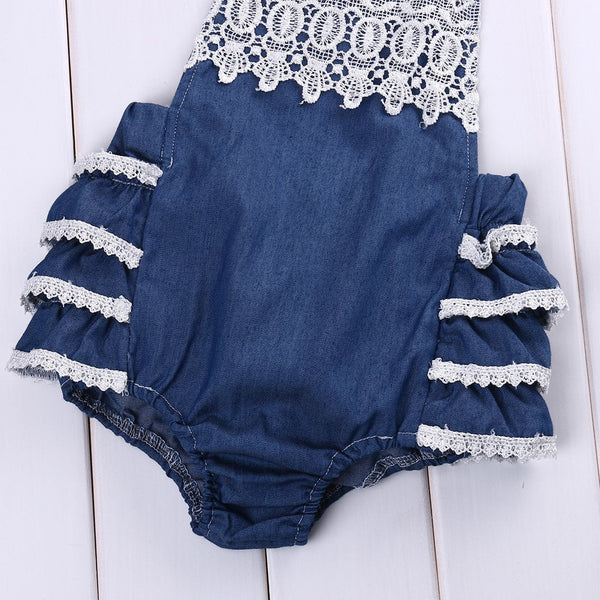 Laced Ruffle Sunsuit