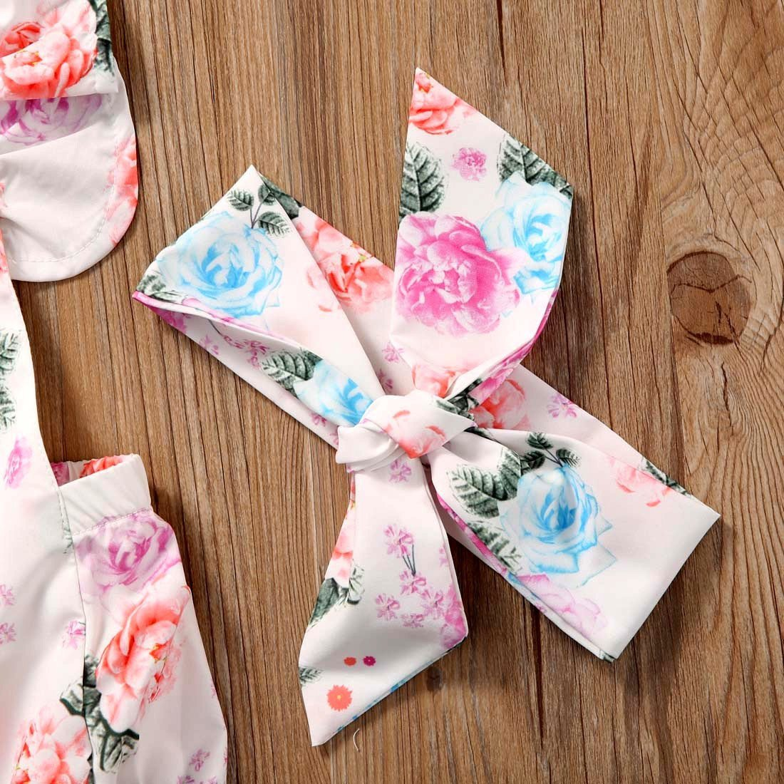 Floral Ruffled Set Headband