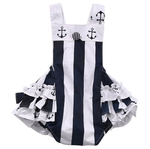 Anchor Ruffles Sunsuit