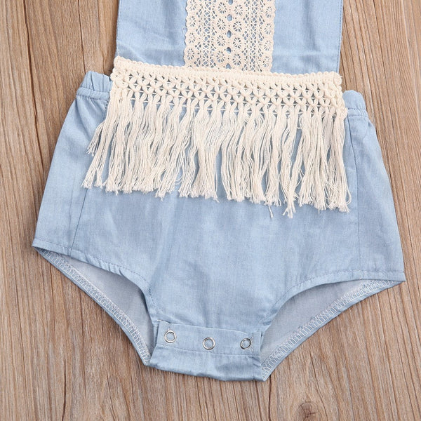Denim Haltered Sunsuit