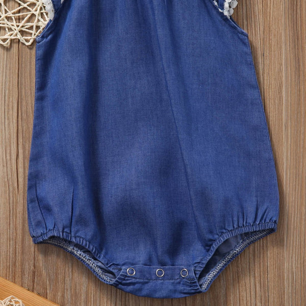 Denim Lace Romper