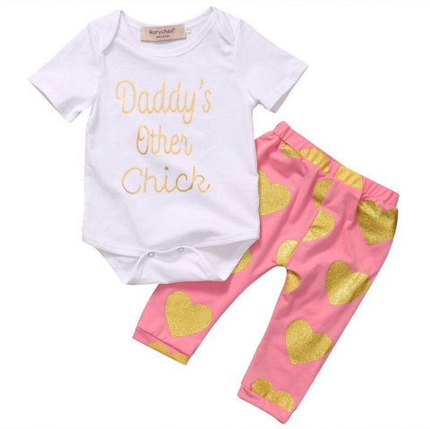 Daddy's Other Chick Hearts Set