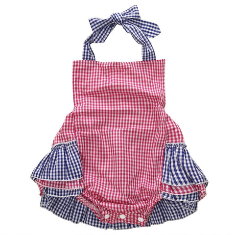 Checkered Halter Sunsuit