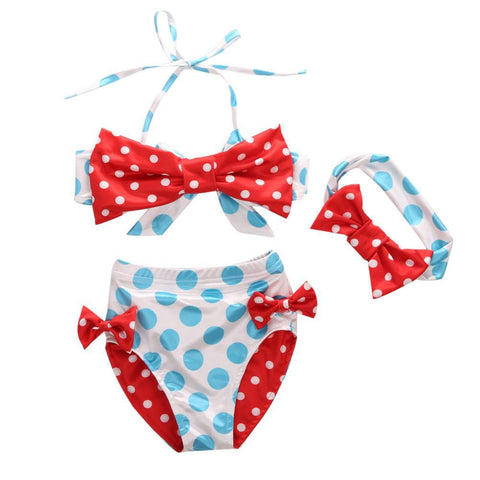 Red Bowknot Swimsuit