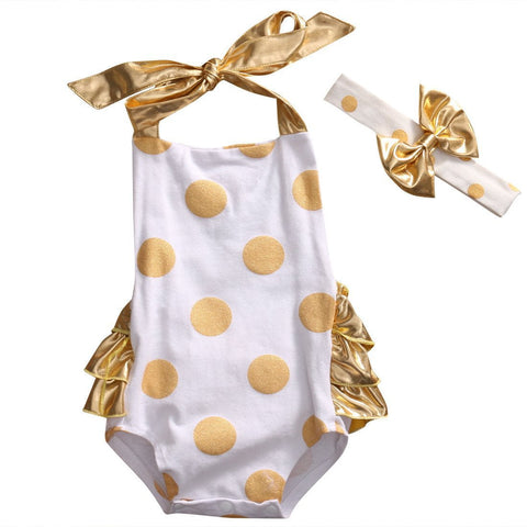 Gold Sunsuit Set