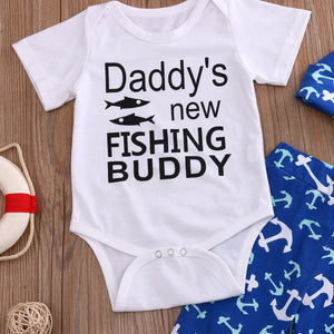 Daddy's New Fishing Buddy Set by Elsewhereshop