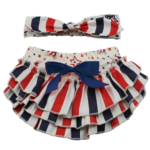 4th of July Stripes Bloomers Set
