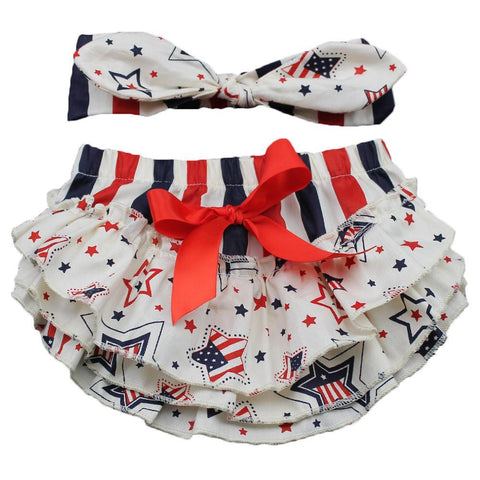 American Flag Bloomers Set