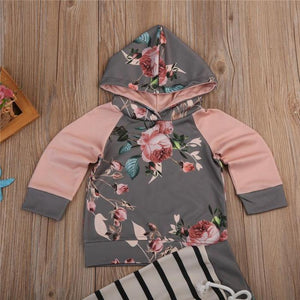 Maxine Floral Hoodie Set by Elsewhereshop