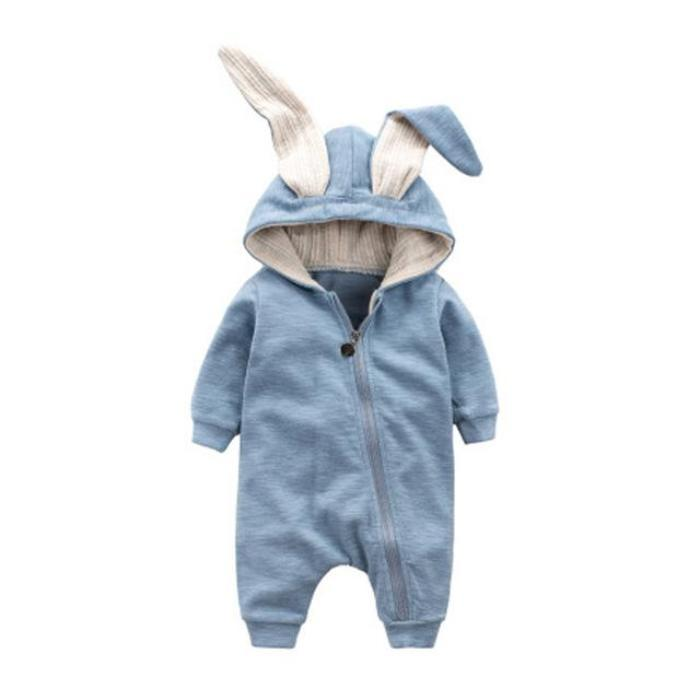 Zippered Bunny Jumpsuit