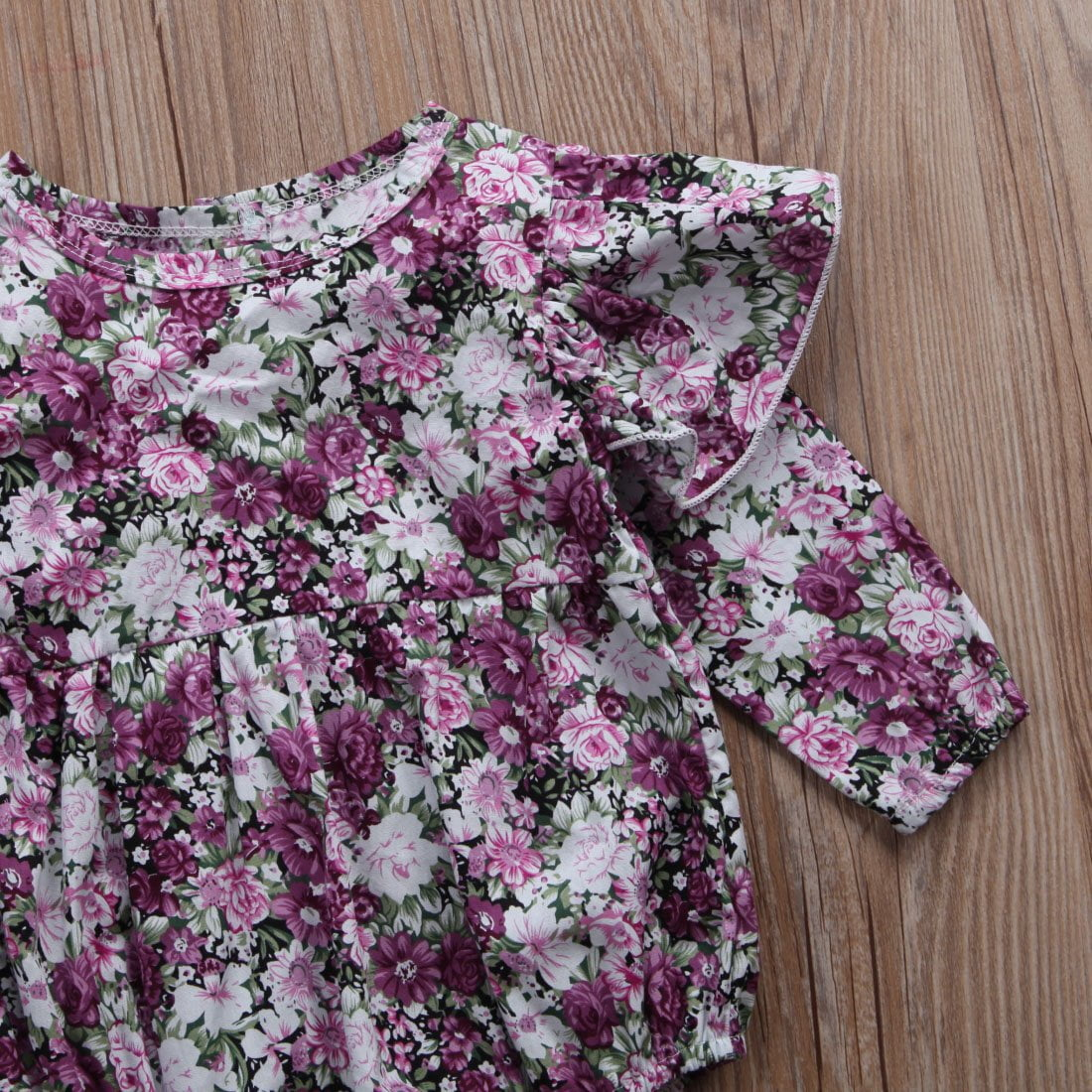 Mathilde Floral Romper close up
