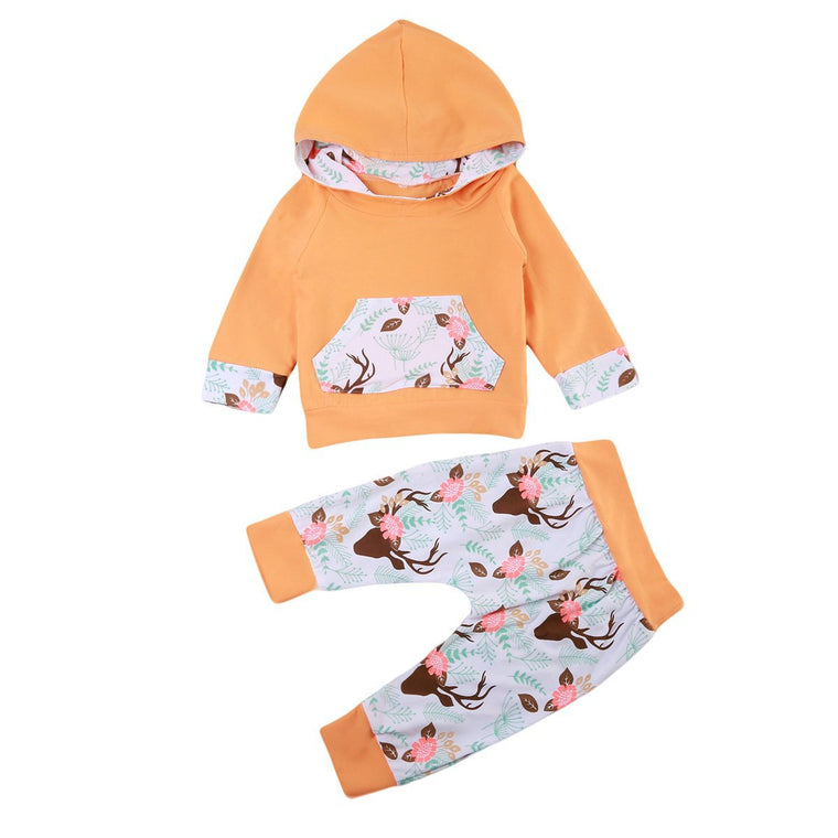 Ginger Antler Hooded Set