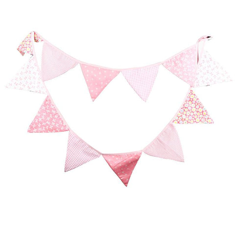 Light Pink Bunting Flags