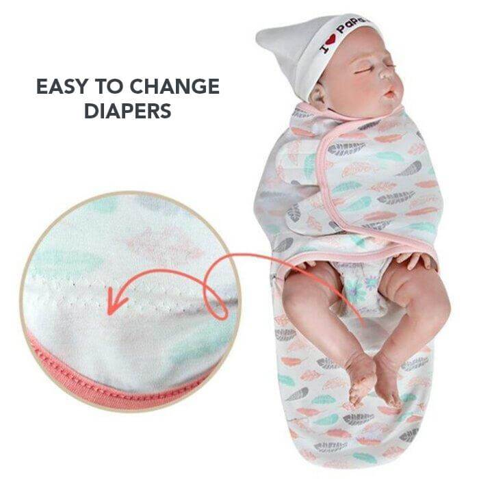 Rayne Feathers Swaddle Envelope Blanket by Elsewhereshop