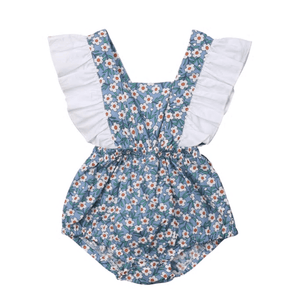 Sabrina Floral Ruffle Romper by Elsewhereshop