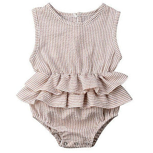Shamcey Stripes Ruffle Romper by Elsewhereshop