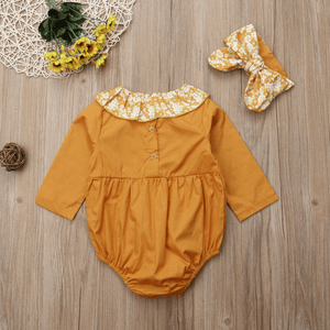 Sitti Lace Floral Romper Set by Elsewhereshop