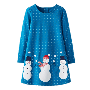 Snowman Polka Dress by Elsewhereshop