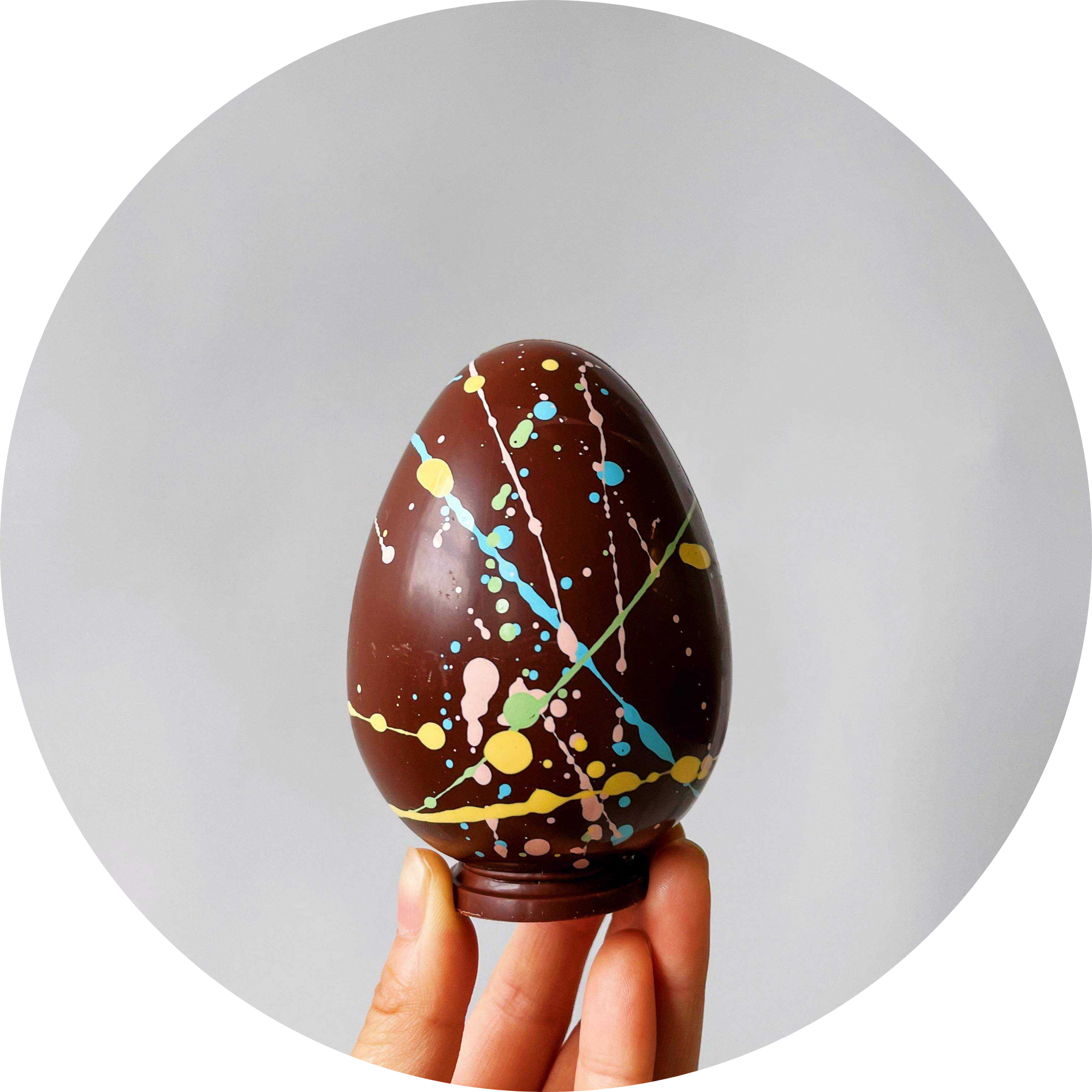 Speculaas Rattle Egg in dark chocolate - local pick up only