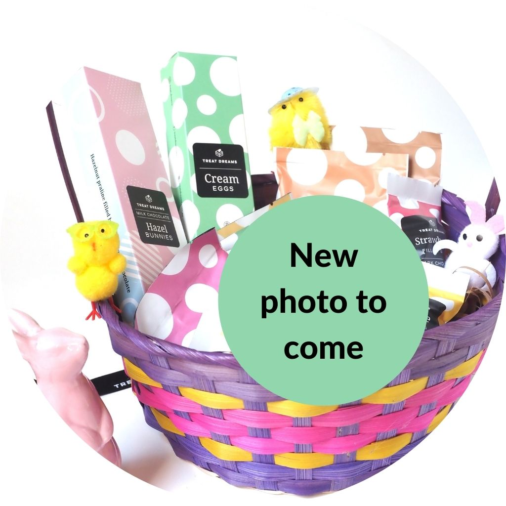 Vegan Easter chocolate hamper - various chocolate products in hamper - new photo showing accurate contents to come - see page description for accurate list