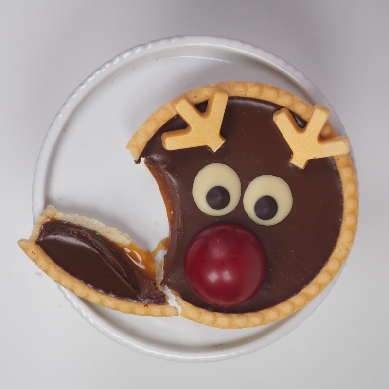 Rudy the Reindeer | chocolate caramel tarts