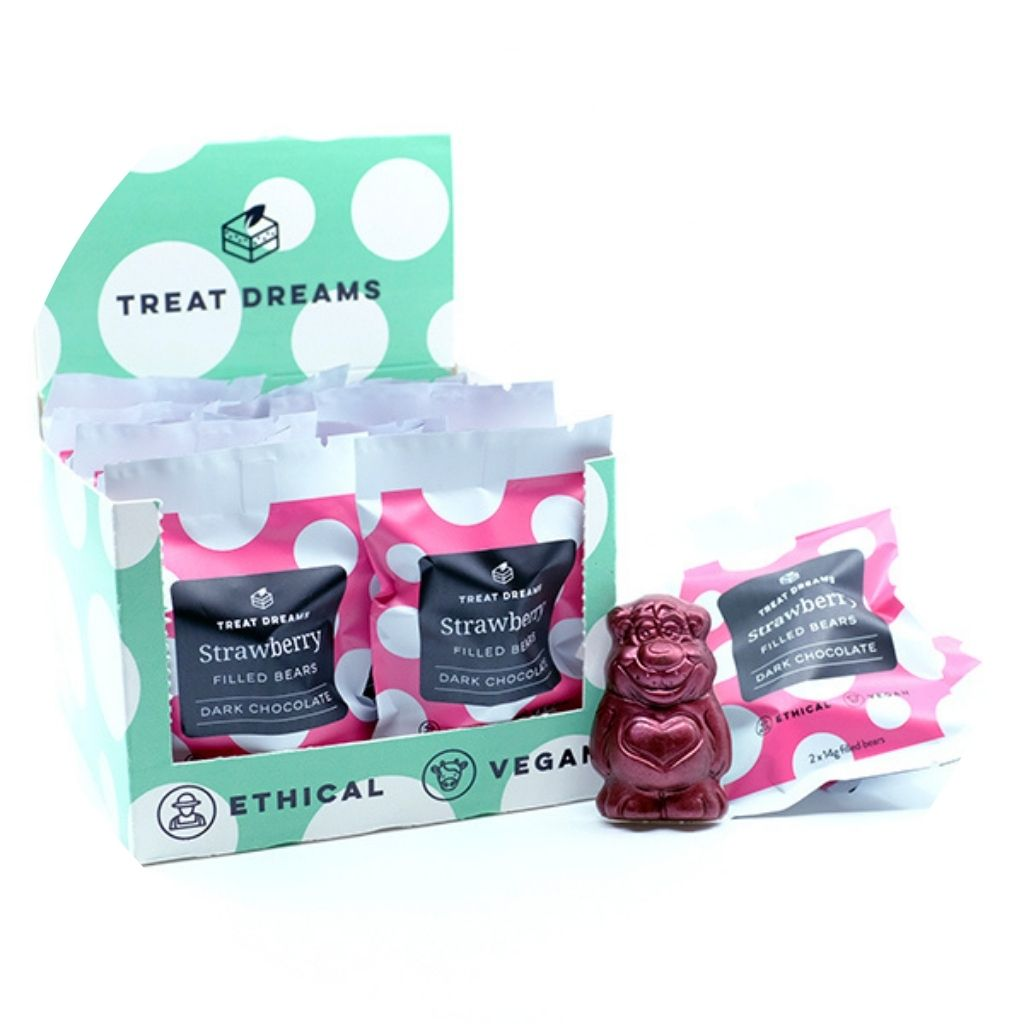 Strawberry Cream Filled Bears | Gift Box