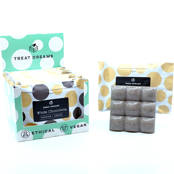 Cookies + Cream White Chocolate Bar | Gift Box