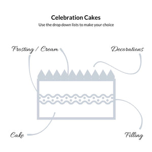 Celebration Cake - local pick up only