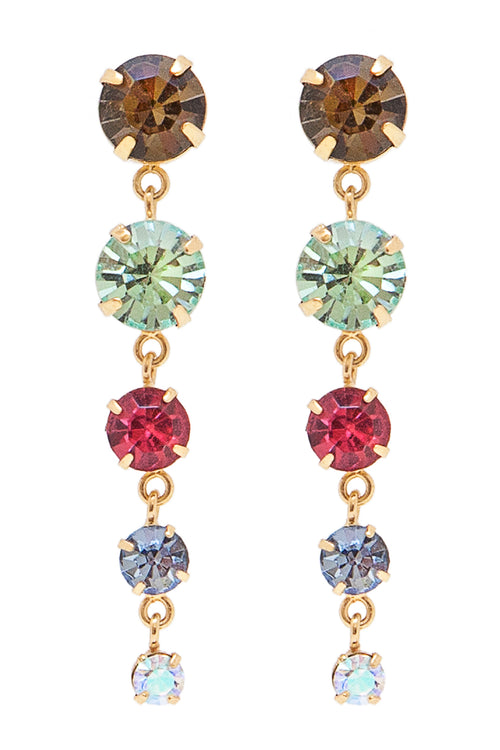 Sleeping Beauty Earrings in Gold/Multi - Arium Collection