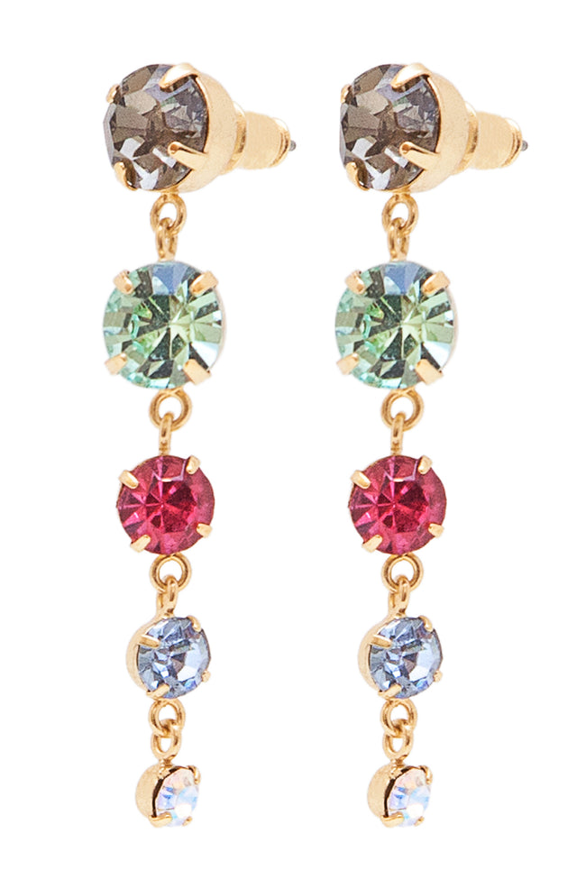 Sleeping Beauty Earrings in Gold/Multi