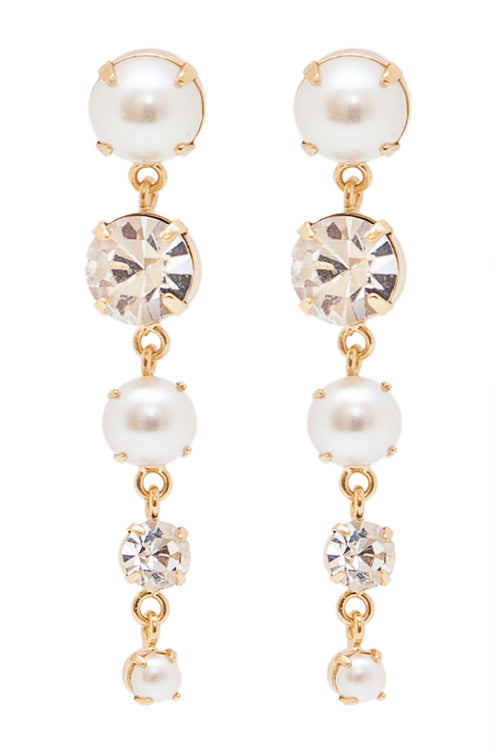 Sleeping Beauty Earrings in Gold/Pearl - Arium Collection