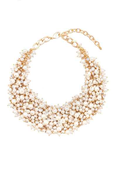 Sleeping Beauty Necklace in Gold/Pearl - Arium Collection