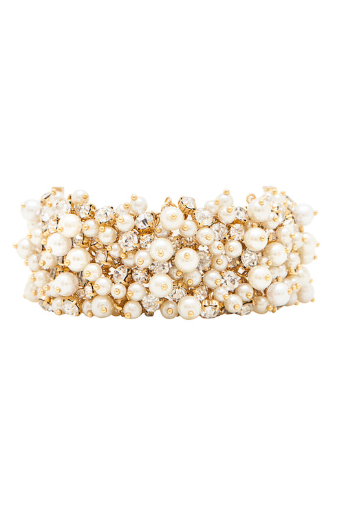 Sleeping Beauty Bracelet in Gold/Pearl