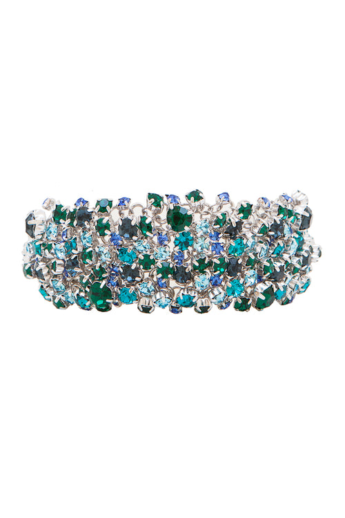 Sleeping Beauty Bracelet in Rhodium/Multi - Arium Collection