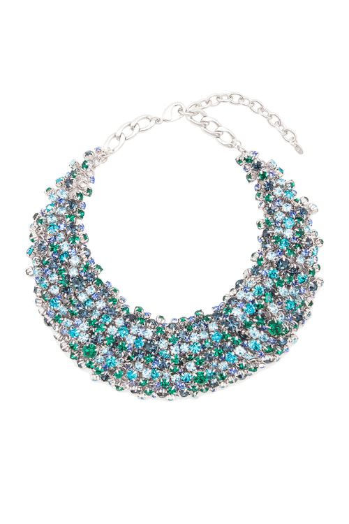 Sleeping Beauty Necklace in Rhodium/Multi - Arium Collection