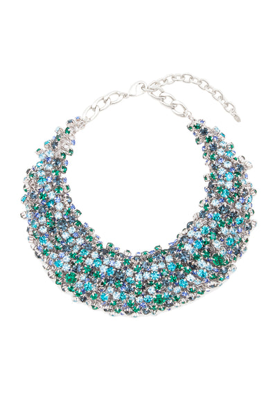 Sleeping Beauty Necklace in Rhodium/Multi