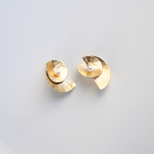 Moon Shell Earrings