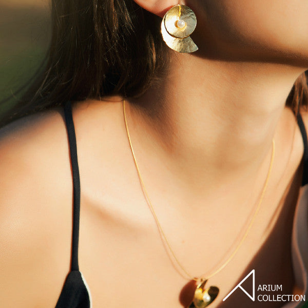 Moon Shell Earrings - Arium Collection