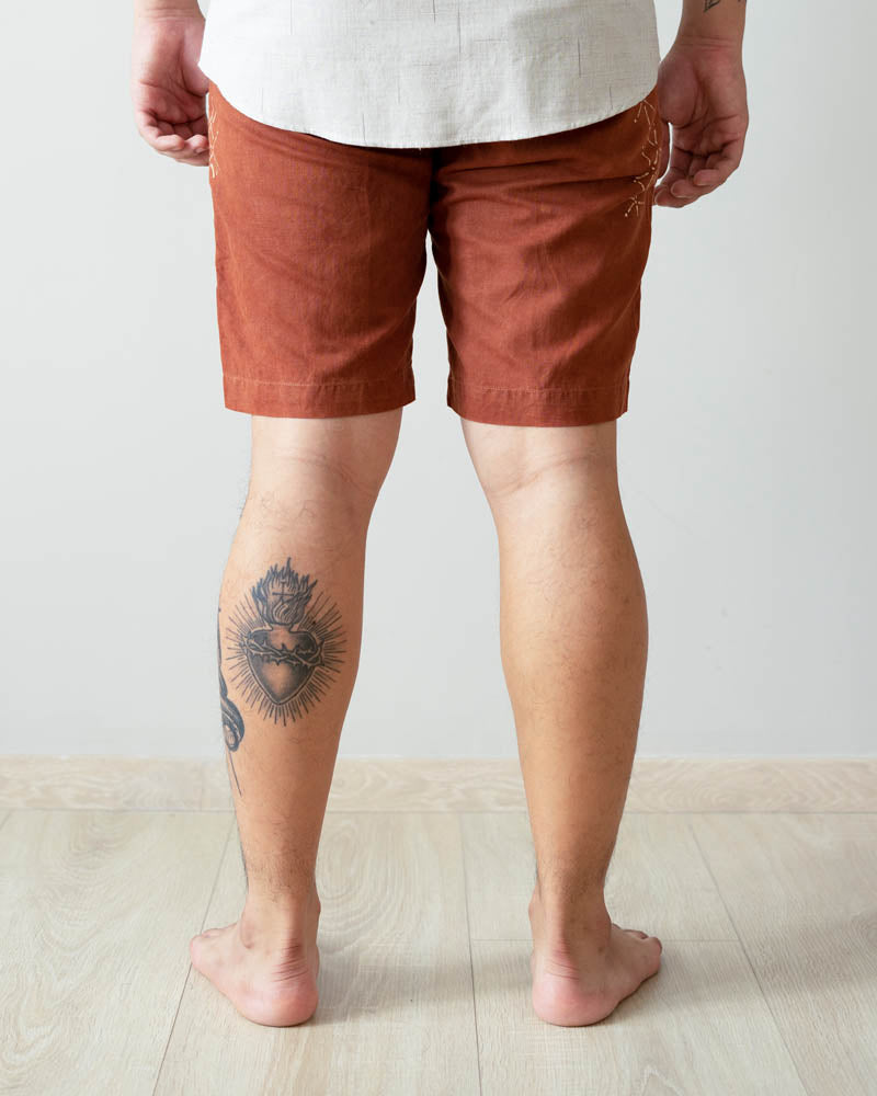 WULUH - Beach Shorts in Deep Ochre