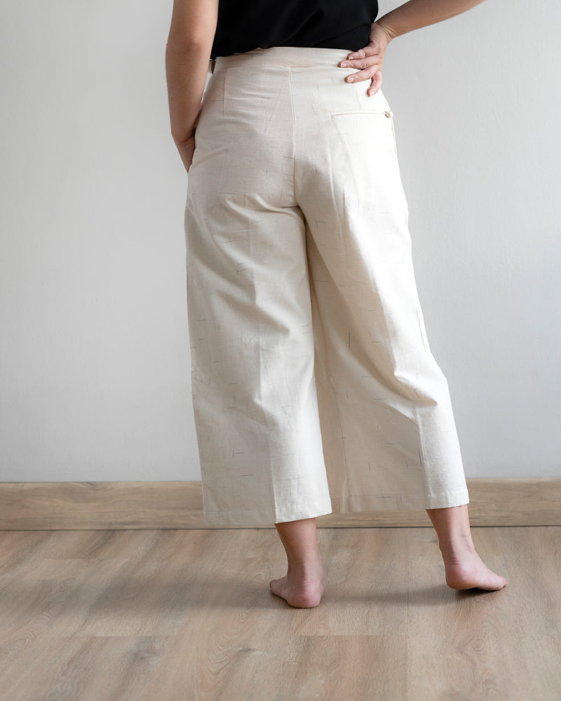 PAGISENJA - Wideleg Crop Pants