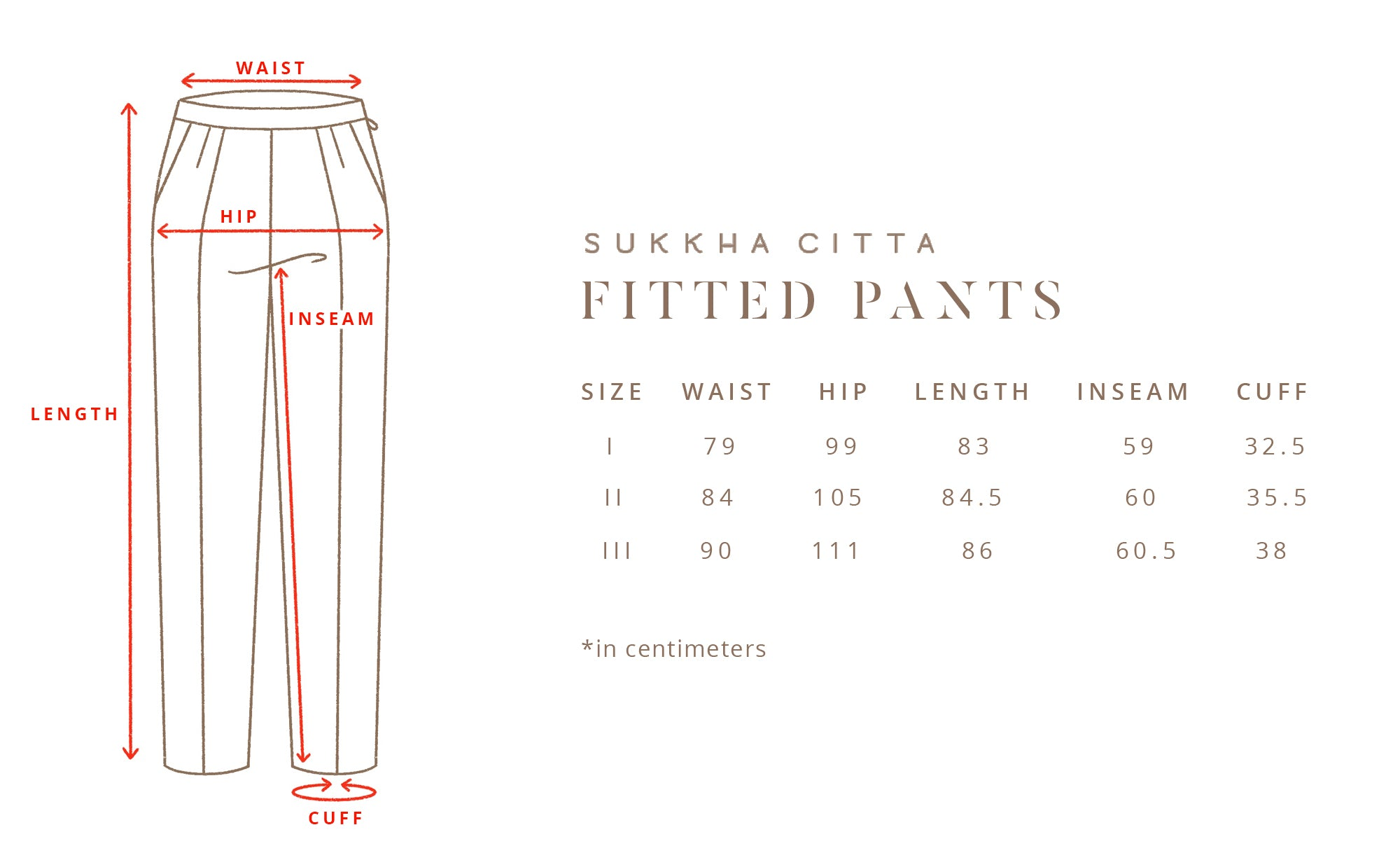 TITIK - Fitted Pants