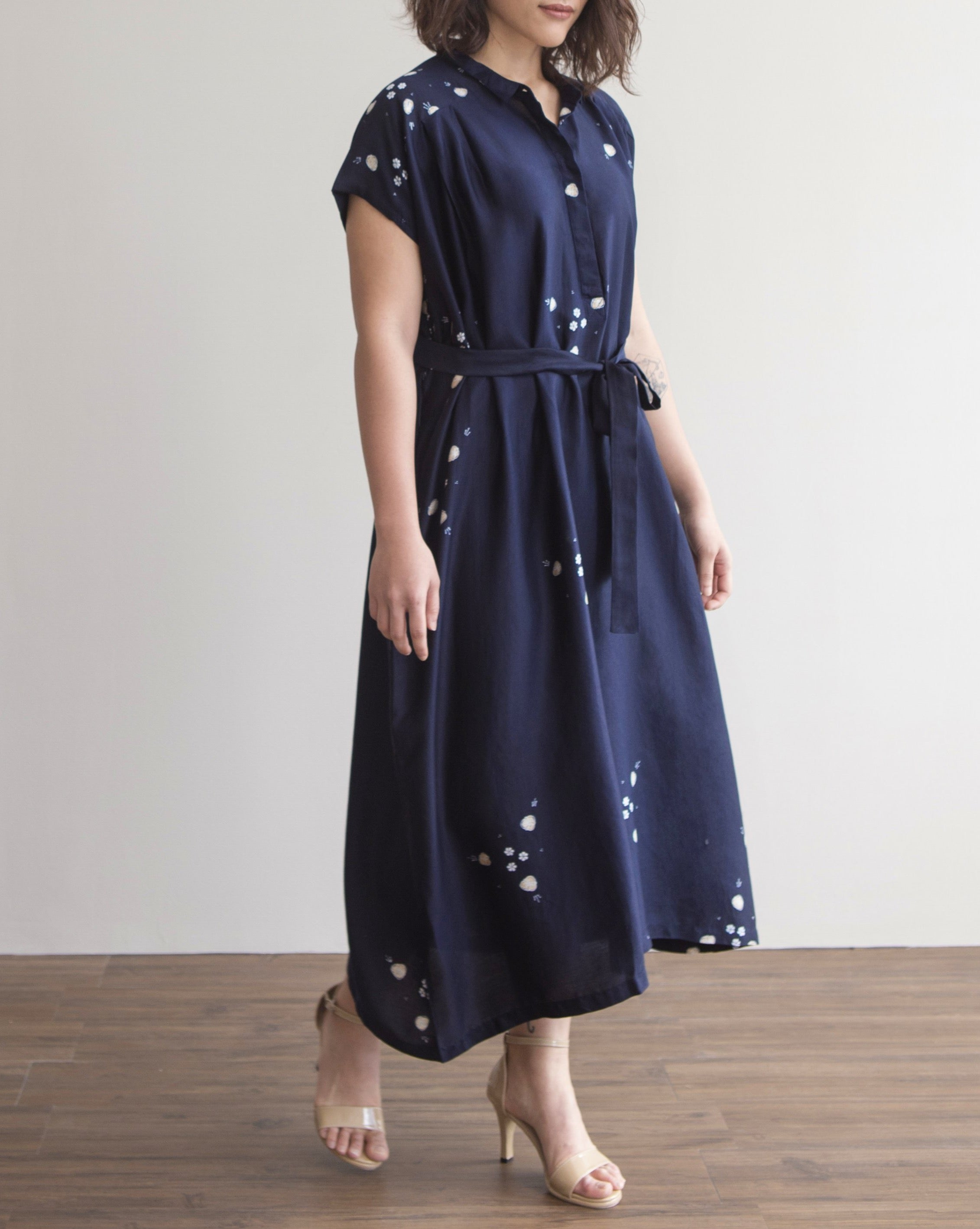 CANANG Midnight - Silky Shirt Dress