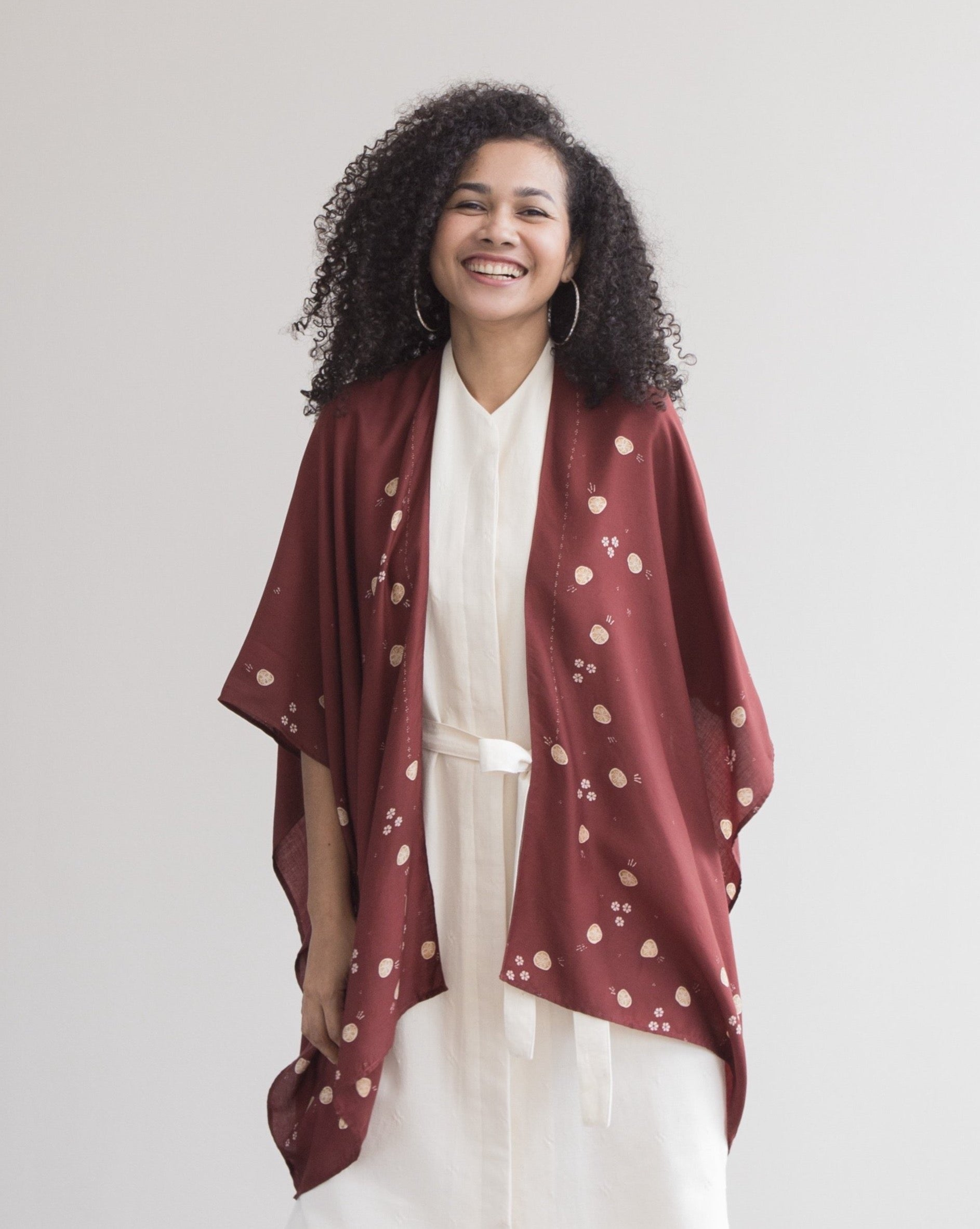 CANANG Garnet - Sylk Throw