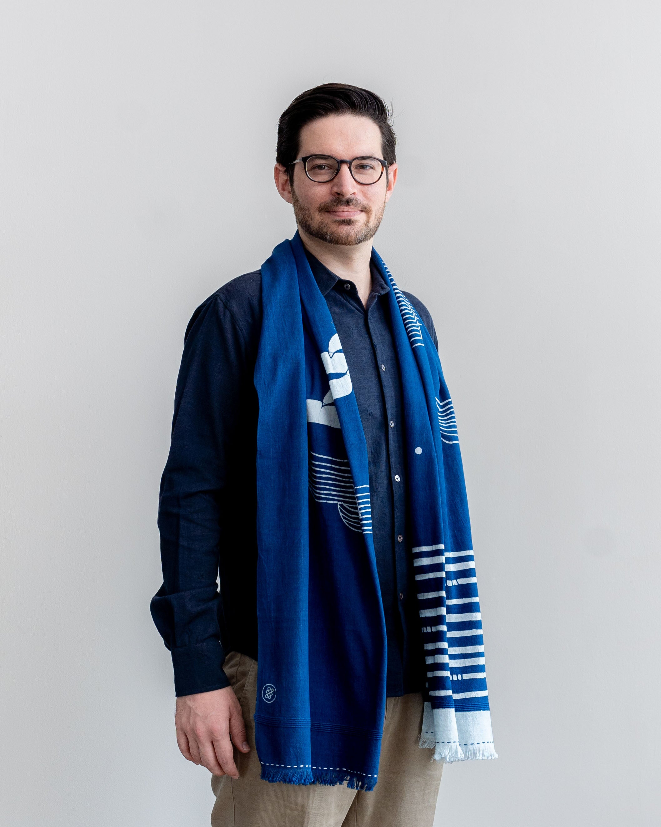 SLOW DOWN - Handwoven Long Scarf (Unisex)