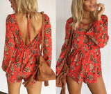Center Lace Floral Jumpsuit