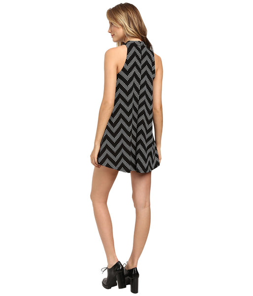Black & White Zig Zag Swing Dress - Sadie Coleman