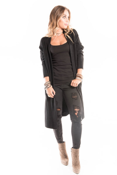 Black Skully Cardigan | Sadie Coleman